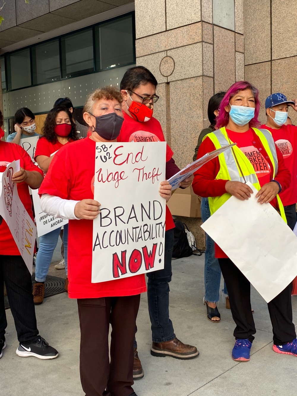 """California fashion brands and advocacy groups push back against the state's Chamber of Commerce, which called the SB62 bill a """"job killer."""""""