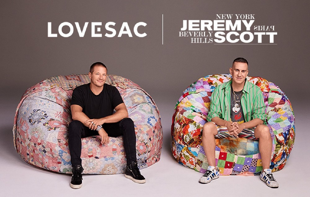 Lovesac founder and CEO Shawn Nelson and Jeremy Scott.