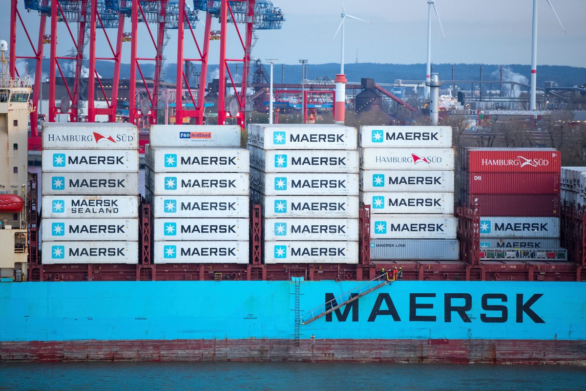 Maersk CEO Soren Skou, in an interview with CNN, said U.S. economic stimulus checks are driving demand and high ocean freight rates.