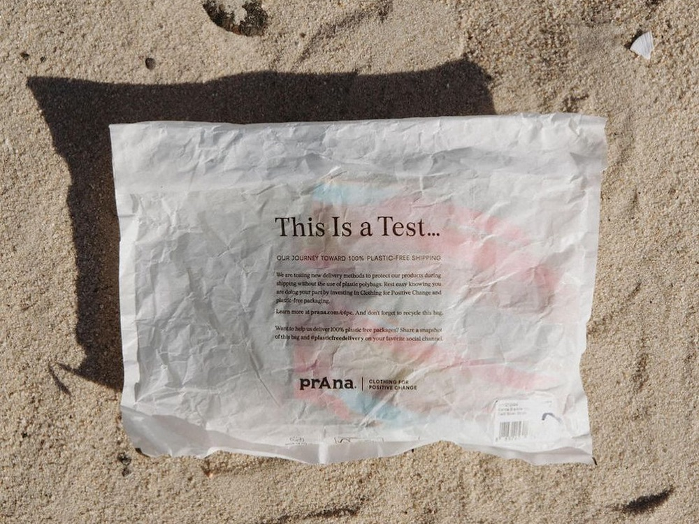 """The yoga and lifestyle brand has """"officially"""" attained its goal of using only 100 percent plastic-free packaging with its fall/winter line."""