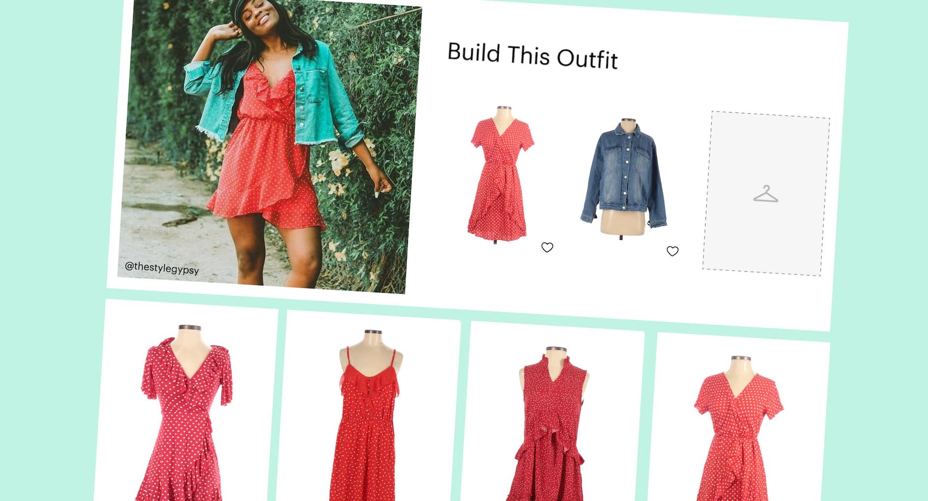 """ThredUp's """"Thrift The Look"""" shopping tool."""
