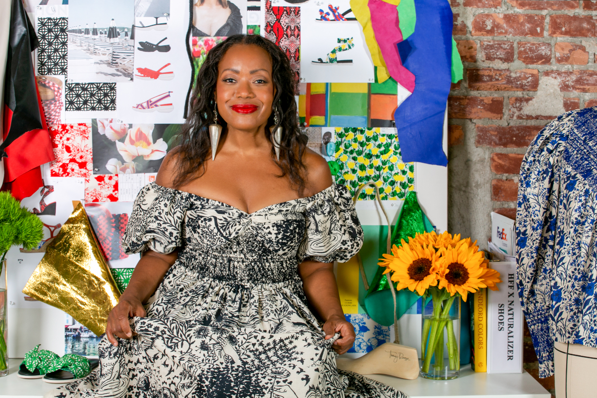 Designer Tracy Reese's Hope For Flowers brand collaborated with Naturalizer on a sustainable spring 2022 footwear line.