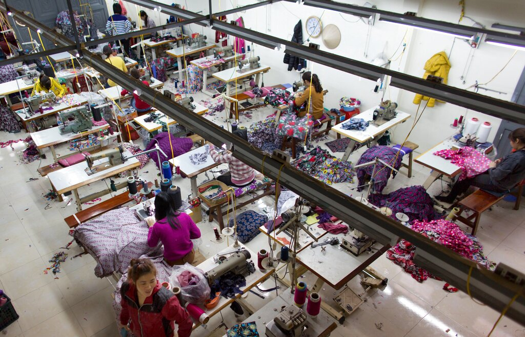 Clothing factory in Vietnam