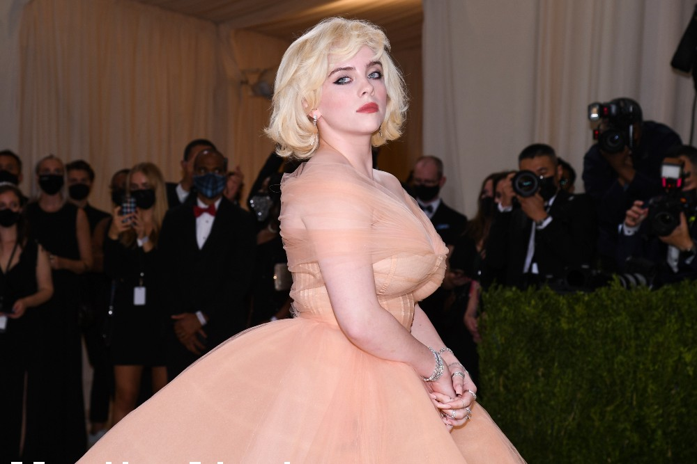 Billie Eilish said she wore her peach tulle Oscar de la Renta dress on the condition the fashion house would go fur-free