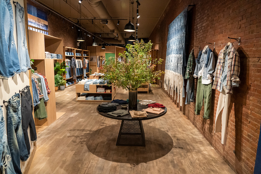 """American Eagle introduced Wednesday AE77, a denim brand """"meant to be lived in, repaired and recycled."""""""