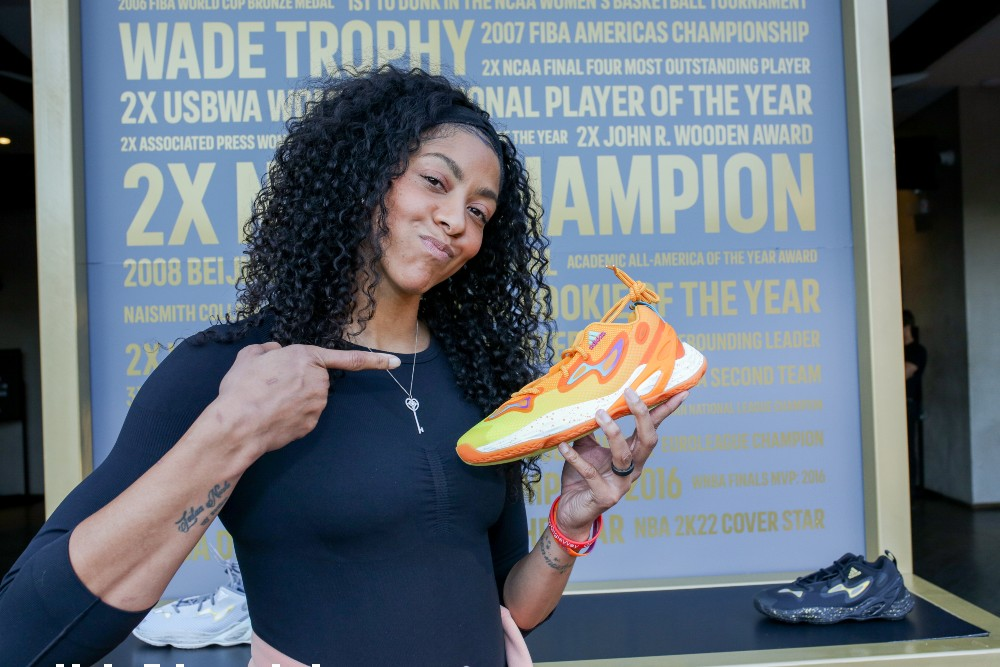 Adidas will release three colorways of the Exhibit (A)ce as part of its Candace Parker collection
