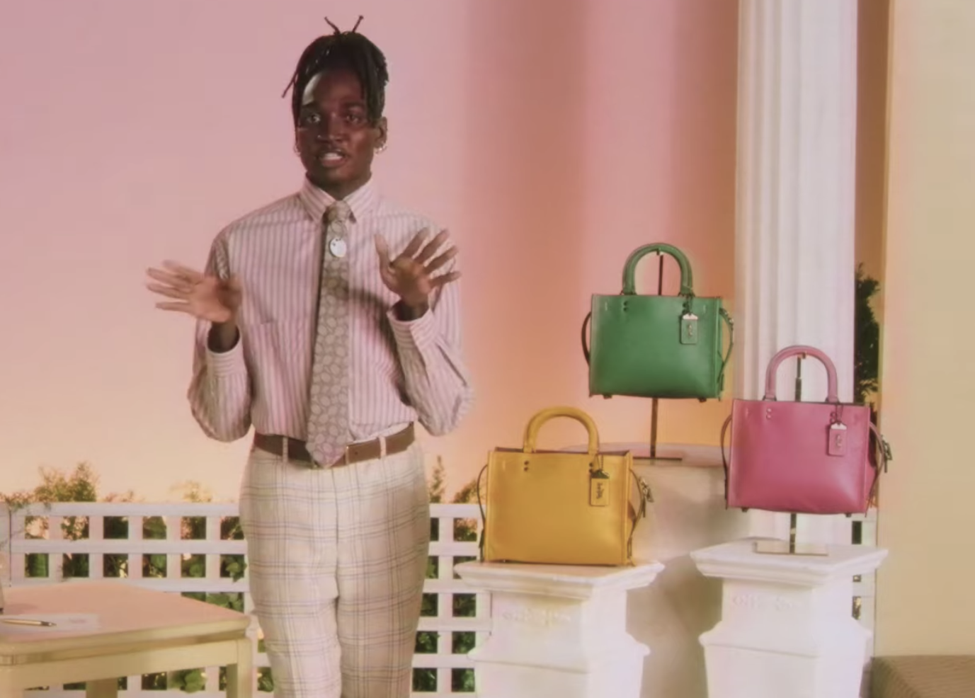 """Handbags seen here are part of Coach's fall 2021 """"Forever II collection,"""" first unveiled on Coach TV in Februart. The six limited-edition NFTs will be based on various products sold in the collection."""