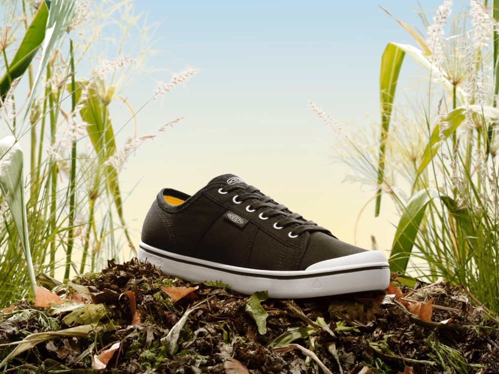 """Keen's """"Field to Foot"""" sneakers feature soles that are 51 percent agricultural waste."""