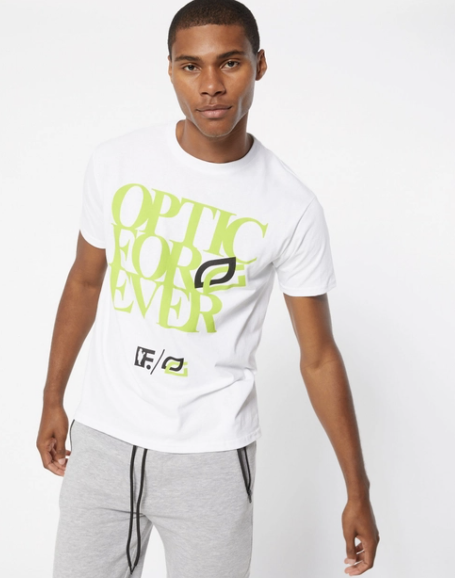 """The """"Optic Forever"""" T-shirt is the inaugural drop from Rue21's collaboration with Frank151 and OpTic Gaming."""