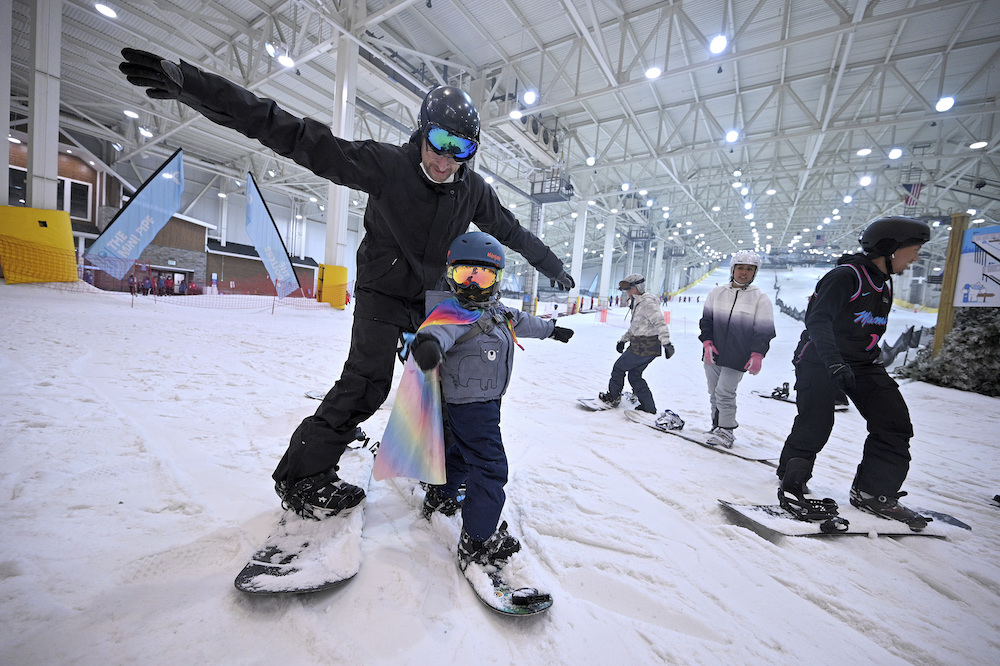 Inside Big Snow, the indoor ski park at the American Dream