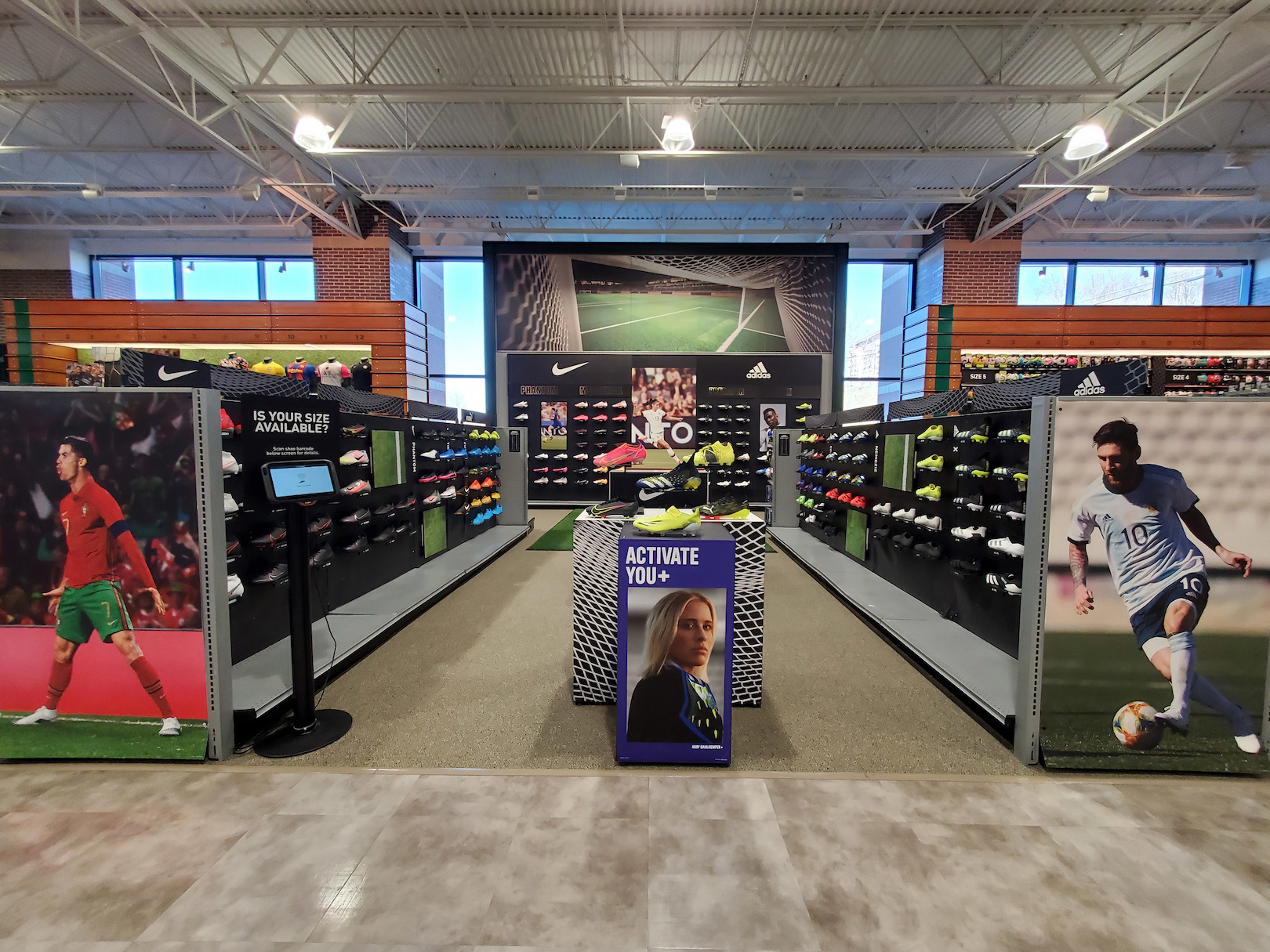 One of Dick's Sporting Goods' Soccer Shops, which began opening in select stores in April.