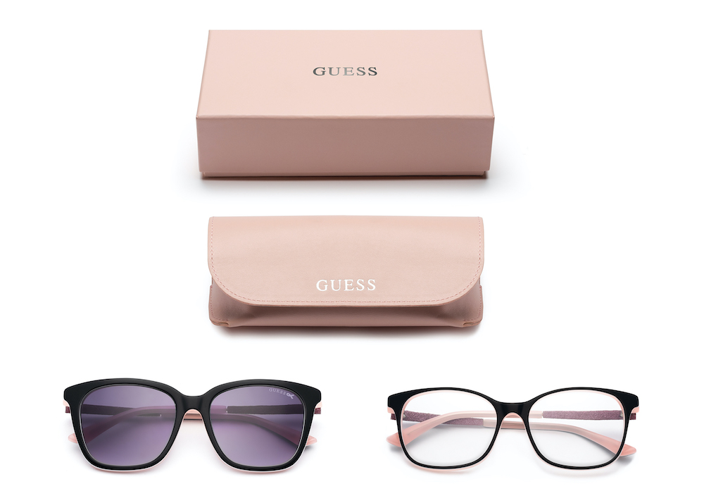 Guess partnered with The Get In Touch Foundation on a range of eyewear and watches in honor of Breast Cancer Awareness Month in October.