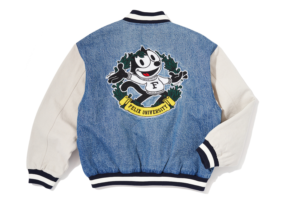 Levi's teamed with Felix the Cat for a men's and women's scholarly collection of jeans, varsity jackets and rugby shirts.
