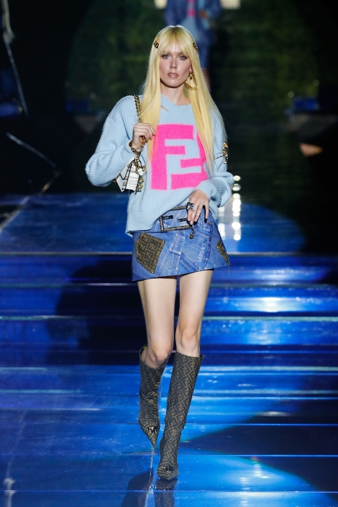 """Versace and Fendi closed Milan Fashion Week with """"Fendace,"""" in which each brand's designers swapped to create a total of 50 looks."""