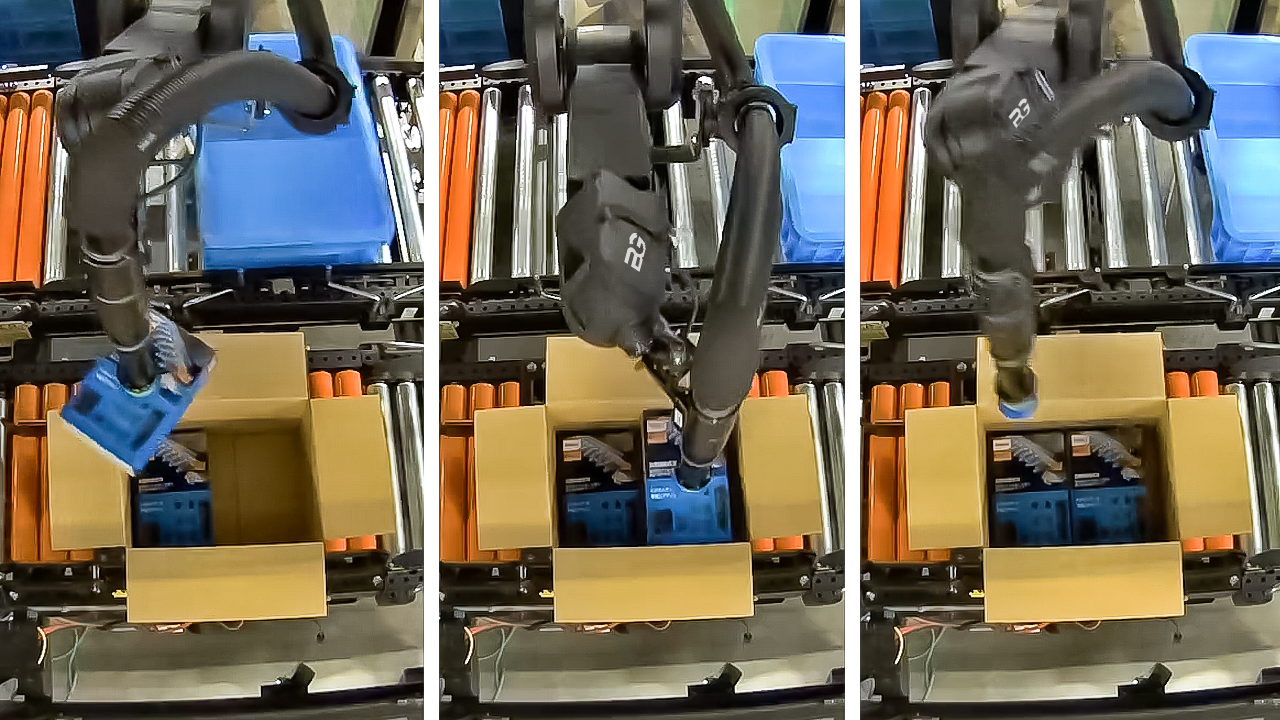 Berkshire Grey's recently launched RPP solution autonomously picks and packs items densely into a shipping box.
