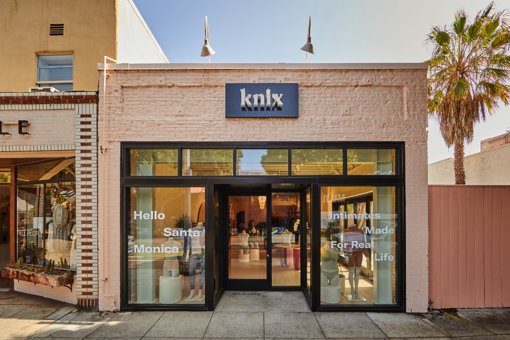 Knix has opened a new storefront in Santa Monica.