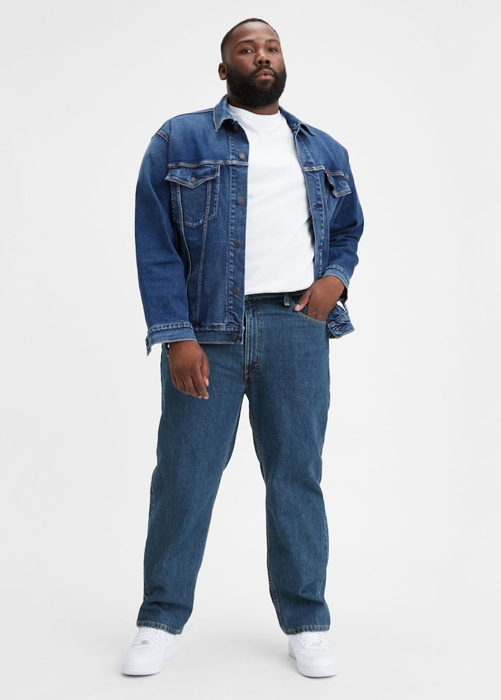 The men's plus sized denim category is still lacking, despite an increased push for size inclusivity throughout the fashion industry.