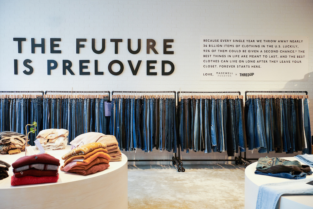 Madewell Opens Temporary Resale Shop in