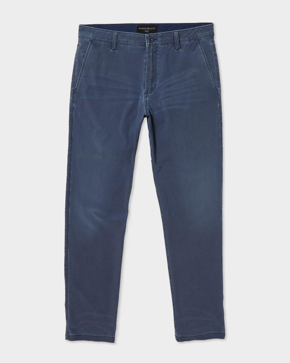 Men's indigo garment-dyed pants.