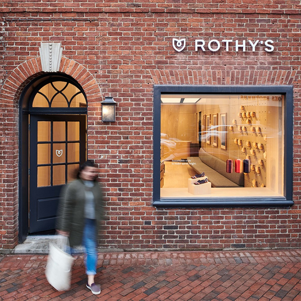 Rothy's D.C. storefront in Georgetown.