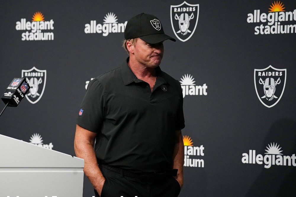 Skechers ended its contract with former Las Vegas Raiders head coach Jon Gruden after emails surfaced reportedly showing him use racist, homophobic and misogynistic language