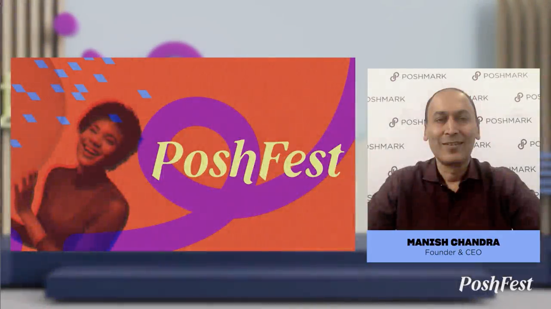 """Manish Chandra, co-founder and CEO of Poshmark, unveiled the My Shoppers and Closet Insights features at the """"Poshfest"""" digital event."""