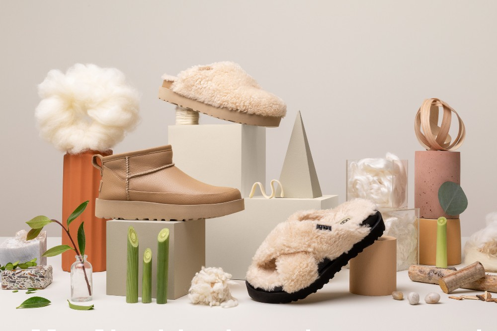 Ugg's Icon-Impact Collection utilizes reclaimed wool, lyocell and sugarcane